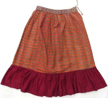 юбка нижняя (домоткань, х/б ткань, ручные и машинные швы)