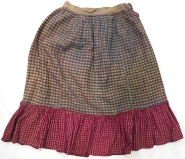 юбка нижняя (домоткань, х/б ткань, машинные швы)
