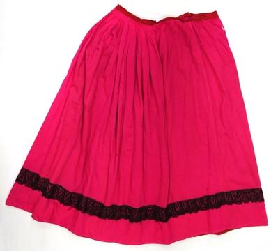 юбка (х/б ткань, кружево, машинное шитье)