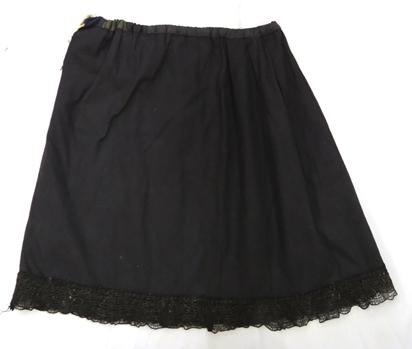 юбка нижняя (х/б ткань, фабричное кружево, ручные швы)